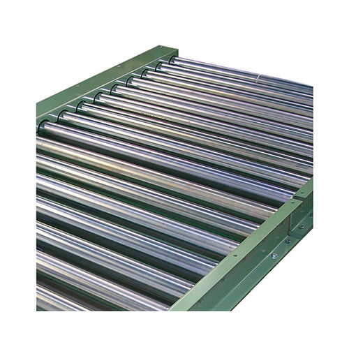 driven roller conveyor / for pallets / bag / for containers