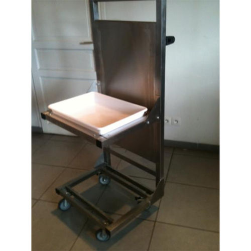 work station cart / 2 levels / with swivel casters
