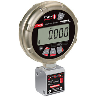 pressure gauge with LCD display / differential pressure / for gas / for vacuum