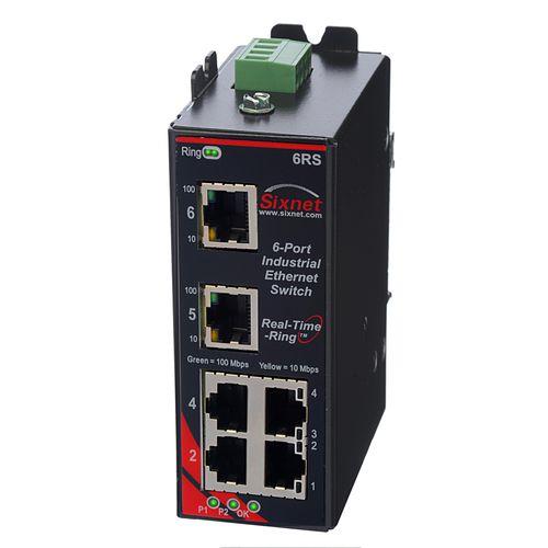 managed ethernet switch / 6 ports / fiber optic / DIN rail