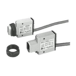 retroreflective photoelectric sensor / rectangular / compact / miniature