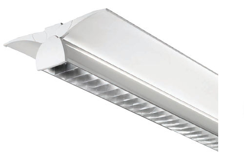ceiling-mounted lighting / fluorescent tube / office / tubular