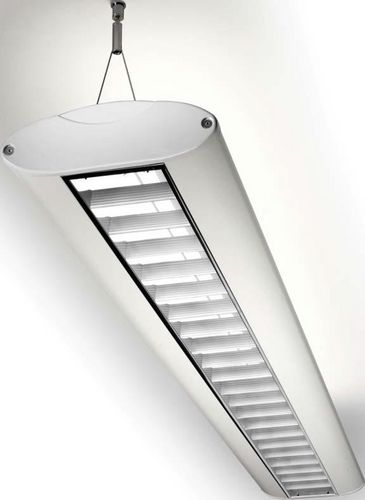 ceiling-mounted lighting / fluorescent tube / office / suspended