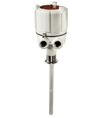 capacitive level switch / for solids / for liquids / sanitary