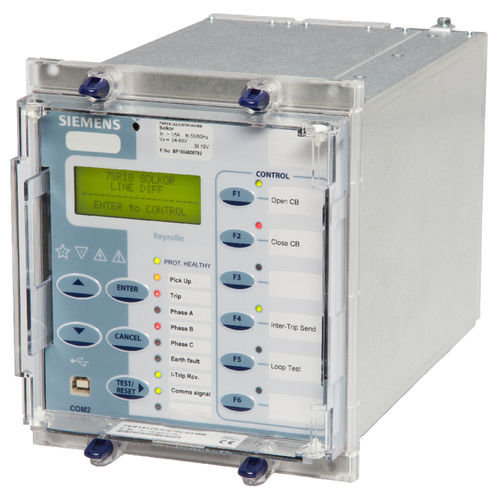 differential protection relay / earth-leakage / safety / three-phase