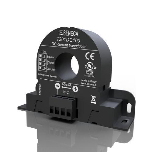 magneto-resistive current transducer / DIN rail / DC / voltage