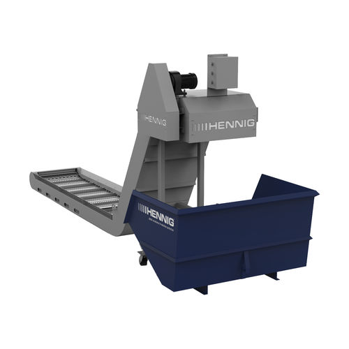 hinged belt conveyor / chip / horizontal