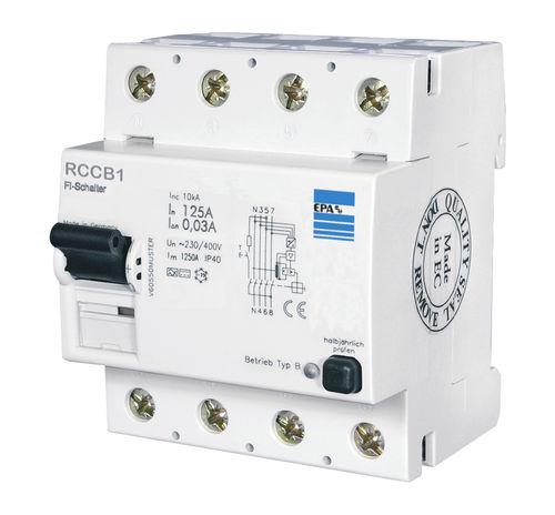 differential residual current circuit breaker