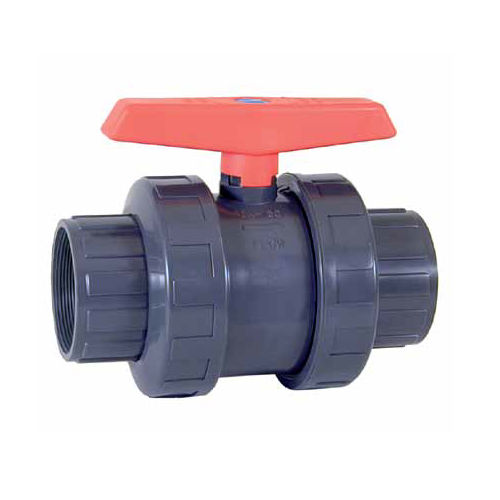 ball valve / manual / threaded / PVC