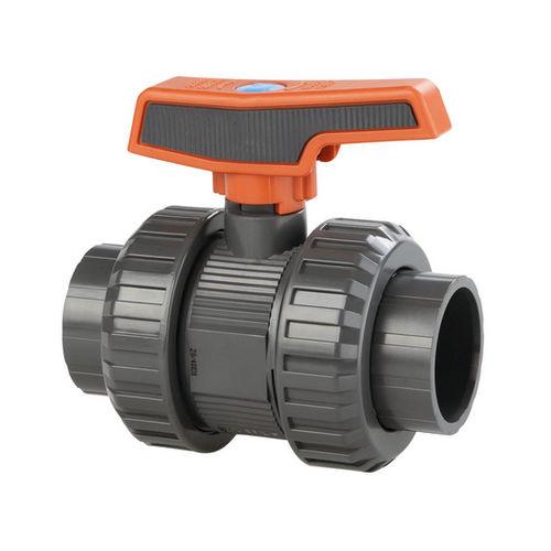 ball valve / lever / threaded / PVC
