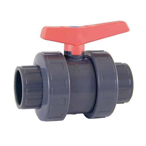 ball valve / manual / threaded / PVC