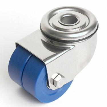 swivel caster / base plate / threaded stud / high load capacity