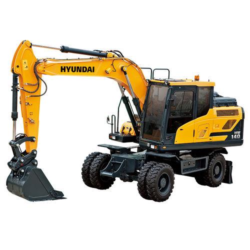 medium excavator / rubber-tired / Tier 4 - final / construction