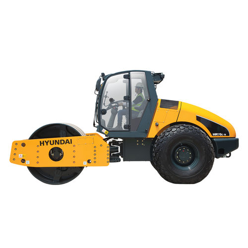 single-cylinder road roller / vibrating / articulated
