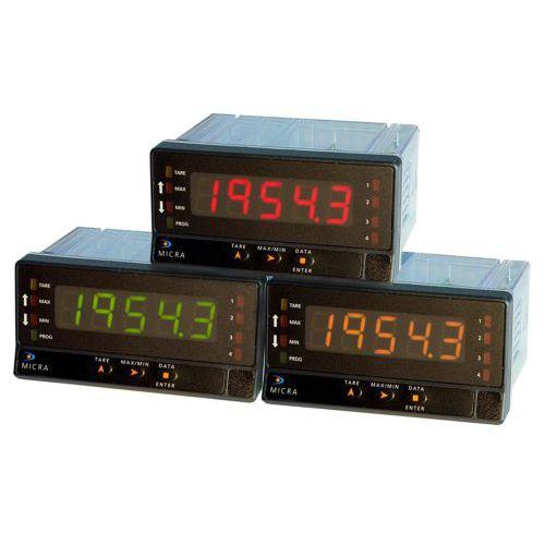 process indicator / digital / panel-mount / programmable