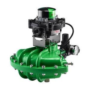 pneumatic valve actuator / quarter-turn / double-acting / spring-return