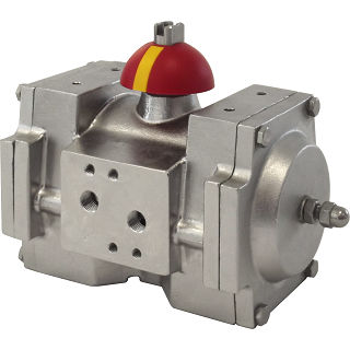 pneumatic valve actuator / rotary / double-acting / rack-and-pinion