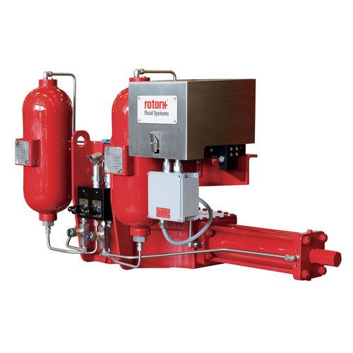 pneumatic valve actuator / quarter-turn / double-acting / rack-and-pinion