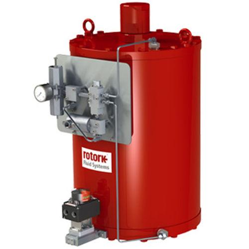 pneumatic valve actuator / hydraulic / quarter-turn / double-acting