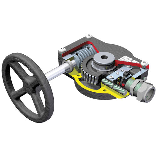worm gear reducer / right angle / manual