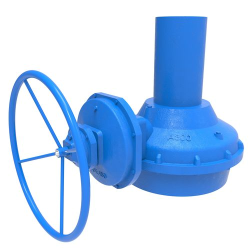 manual valve actuator / multi-turn / bevel gear / stainless steel