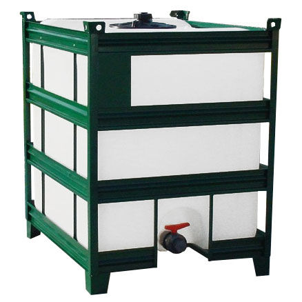 storage IBC container / polyethylene / for liquids / with protective cage