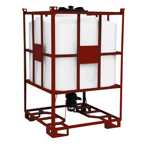 polyethylene IBC container / for liquids / with protective cage / stackable