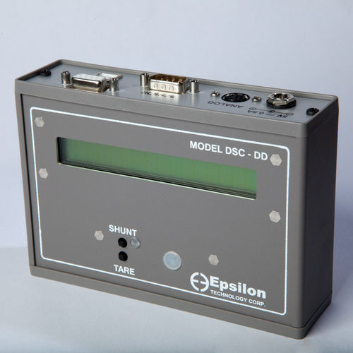amplifier signal conditioner / digital / with display / extensometer