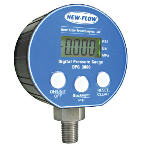 pressure gauge with LCD display / Bourdon tube / process / for gas
