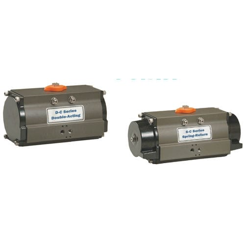 pneumatic valve actuator / rotary / double-acting
