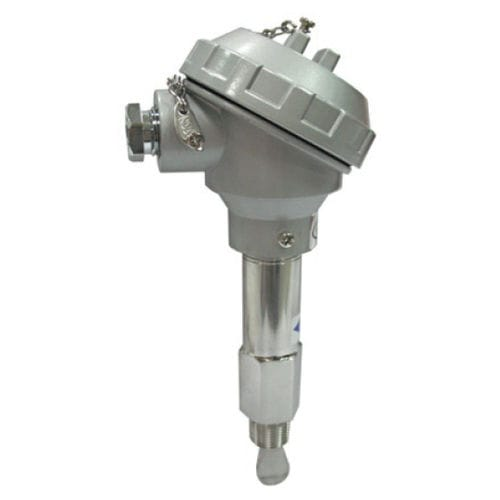 paddle flow switch / for liquids / stainless steel / threaded