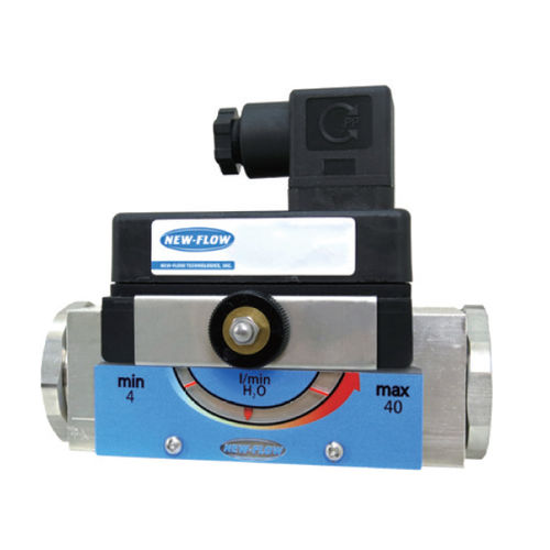 piston flow switch / for gas / for liquids / stainless steel