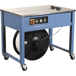 semi-automatic strapping machine / for coils / stainless steel / horizontal