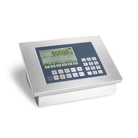 weight indicator with LCD graphic display / wall-mount / stainless steel / programmable