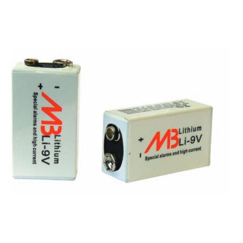 lithium-manganese dioxide battery / prismatic / primary / 9 V