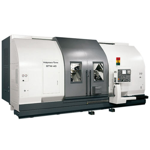 CNC milling-turning center / horizontal / double-spindle / double-turret