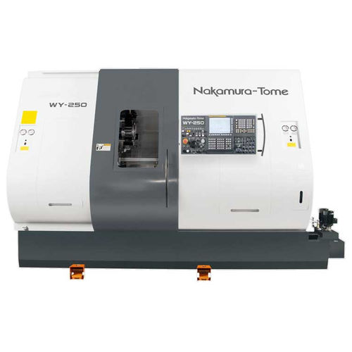 CNC lathe / 4-axis / double-turret / with tilting turret