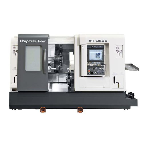 CNC turning center / 4-axis / double-turret / double-spindle