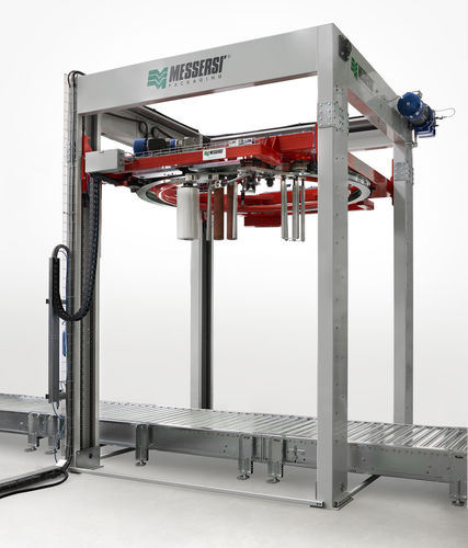 rotary ring stretch wrapper / automatic / pallet / stretch film