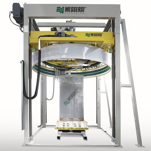 rotary ring stretch wrapper / automatic