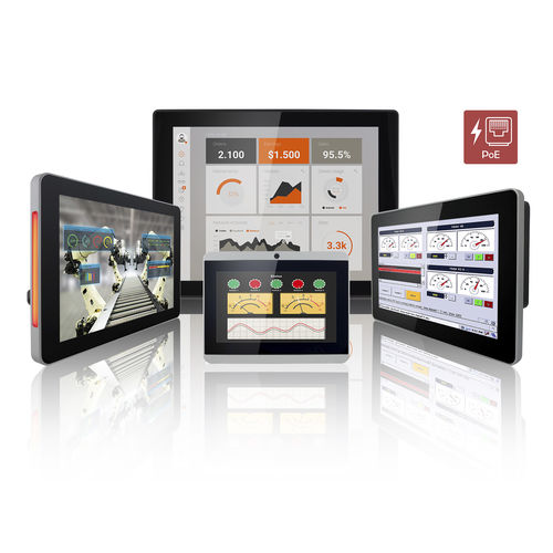 multitouch screen HMI / wall-mount / VESA mounting / panel-mount