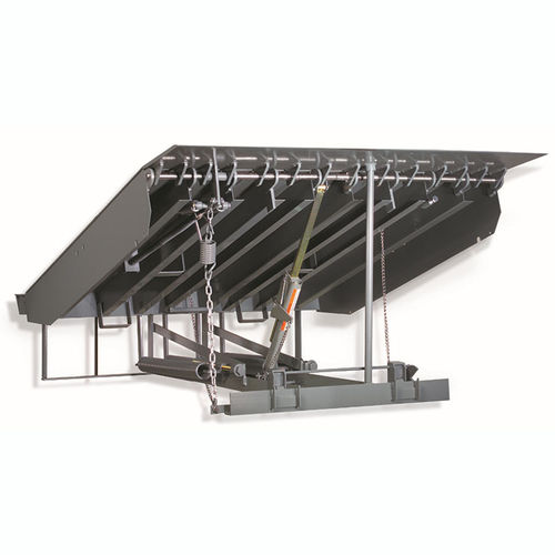 mechanical dock leveler / with articulated lip / vertical