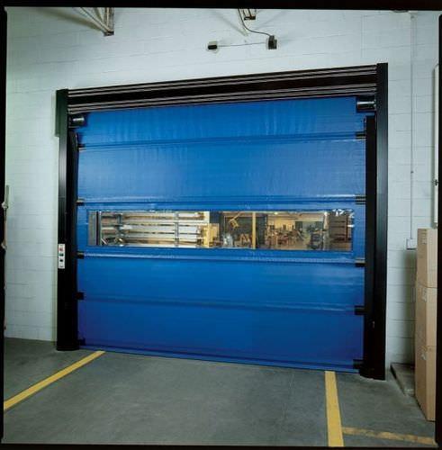 folding door / steel / PVC / polyethylene