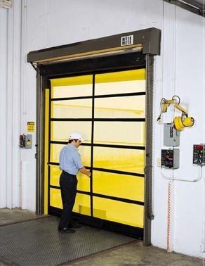roll-up door / steel / PVC / polyethylene