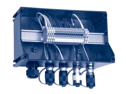 equipped electrical enclosure / plastic / power distribution / IP66