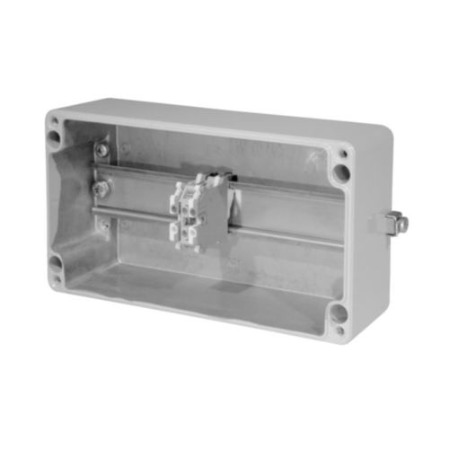 wall-mounted terminal box / explosion-proof / aluminum / with cable gland