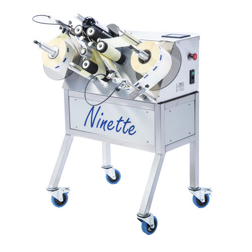 semi-automatic labeler / for self-adhesive labels / side / for bottles