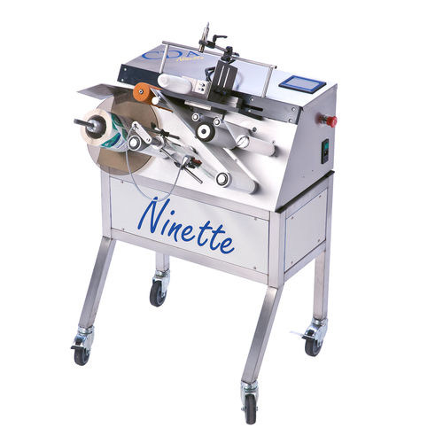 semi-automatic labeler / for self-adhesive labels / side / for the food industry