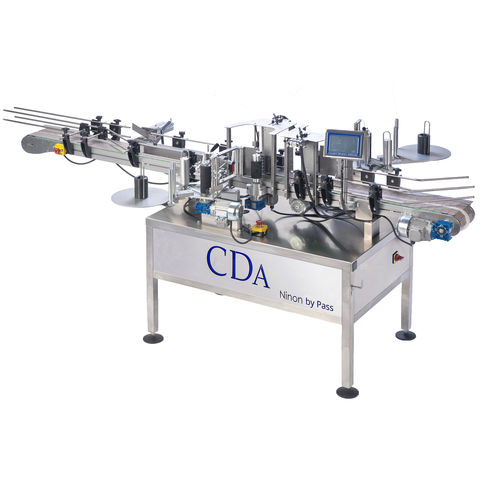 automatic labeler / for self-adhesive labels / high-speed / 2-label