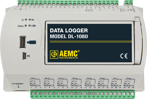voltage data-logger / Ethernet / with screen / multi-channel